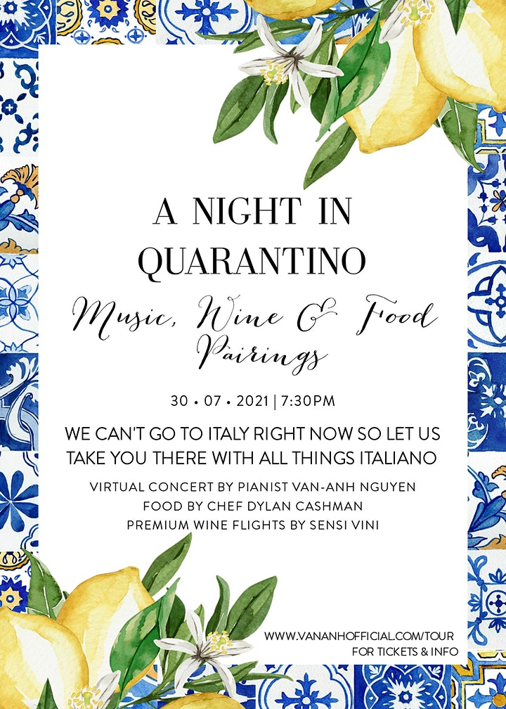 A Night In Quarantino - Music, Wine & Food Pairings image