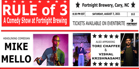 Rule of 3: A Comedy Show at Fortnight Brewing tickets