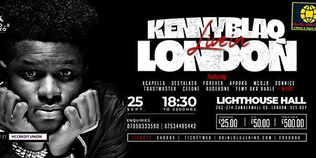 KENNY BLAQ LIVE IN LONDON  @ LIGHTHOUSE CAMBERWELL ON SAT/25/SEPT tickets