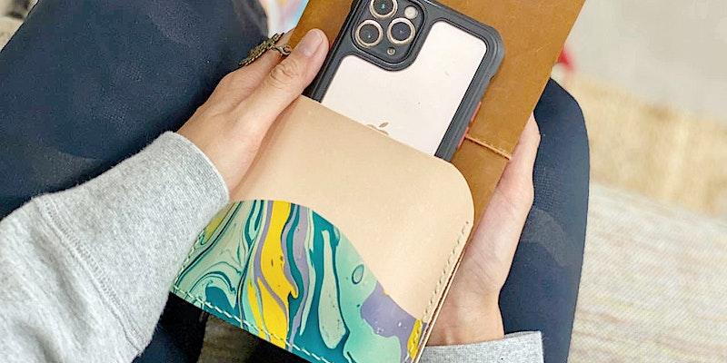 Traveler's Notebook Marbled Leather Pocket Workshop