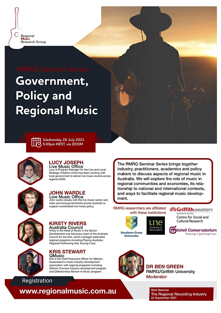 RMRG Seminar Series - Government, Policy and Regional Music image