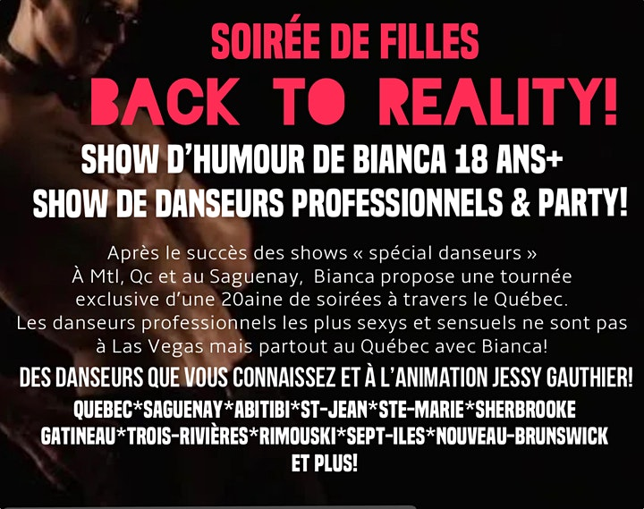 """Image de GATINEAU  Mère Ordinaire 2 + """"BACK TO REALITY"""" Humour + danseurs"""