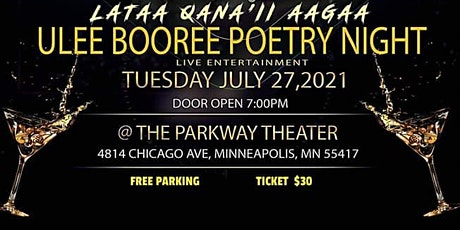 Ulee Booree Poetry Night tickets