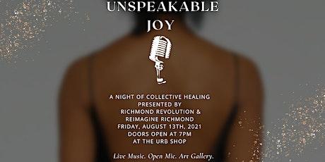 UnSPEAKable Joy tickets