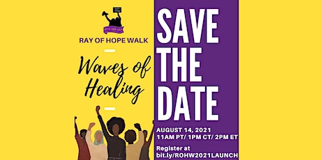 Ray of Hope Walk Launch Event 2021 tickets