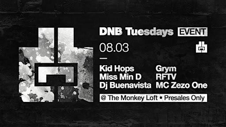 Drum and Bass Tuesdays @ Monkey Loft w/ Kid Hops 08.03.21 image