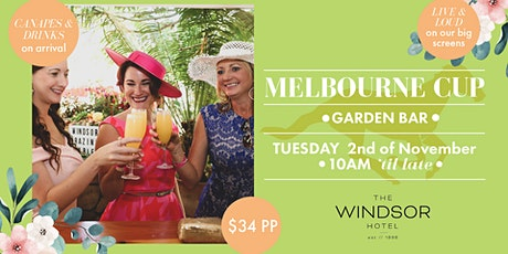 Melbourne Cup in The Garden Bar at The Windsor tickets