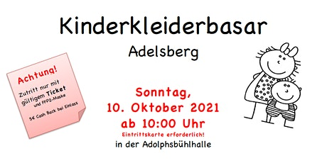 Kinderkleiderbasar Adelsberg - Herbst 2021 Tickets