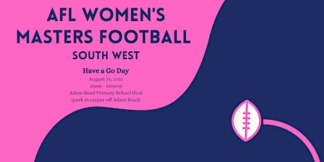 AFL Women's Masters Football SW - Have a Go Day tickets