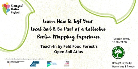 Learn How to Test & Map Your Local Soil | Emergent Berlin Festival Tickets
