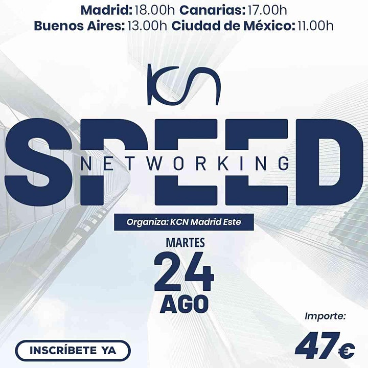 Imagen de KCN Madrid Este Speed Networking Online 24 Ago
