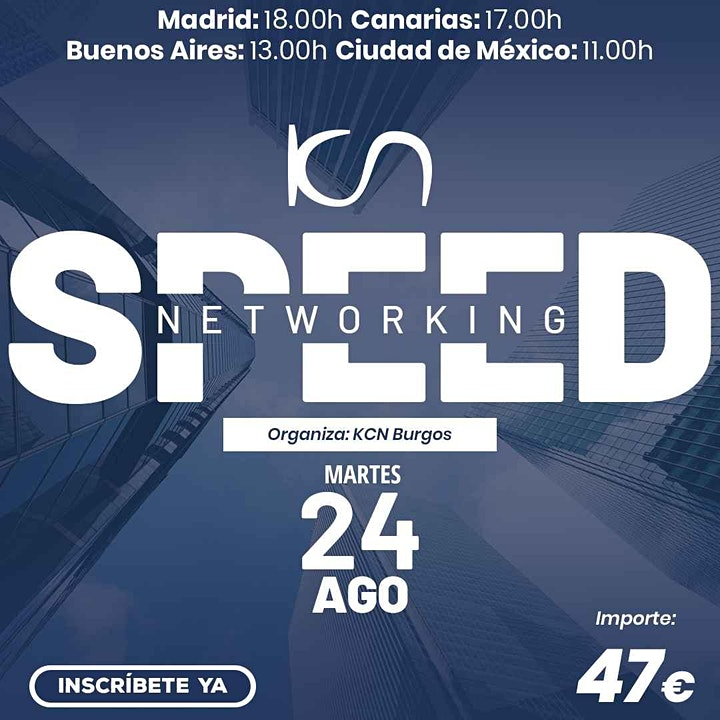 Imagen de KCN Burgos Speed Networking Online 24 Ago