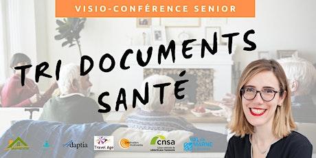 Visio-conférence senior GRATUITE  - Trier ses documents de santé billets