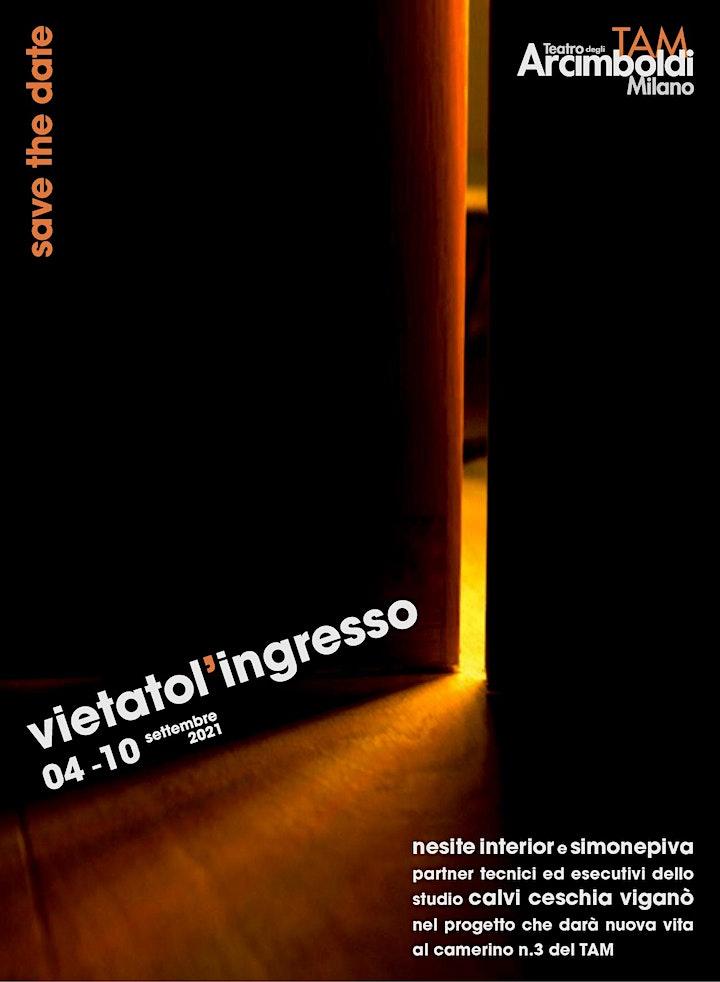 Immagine Fuorisalone 2021, progetto Vietato l'ingresso - TAM Teatro degli Arcimboldi