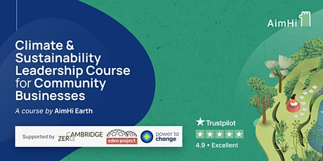 Climate & Sustainability Leadership Course for community business tickets