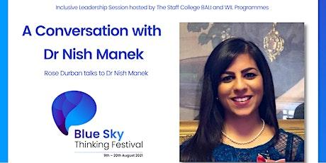 A Conversation with Dr Nish Manek tickets