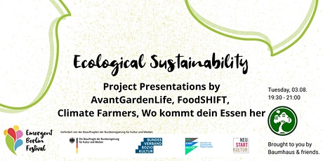 Project Presentations: Ecological Sustainability | Emergent Berlin Festival Tickets