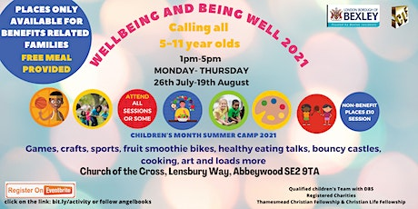 Wellbeing and Being Well Sports, fitness, games, craft cooking & loads more tickets
