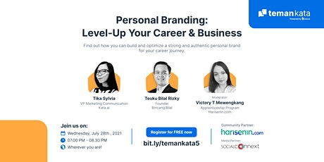 TemanKata5 - Personal Branding: Level-Up Your Career & Business tickets