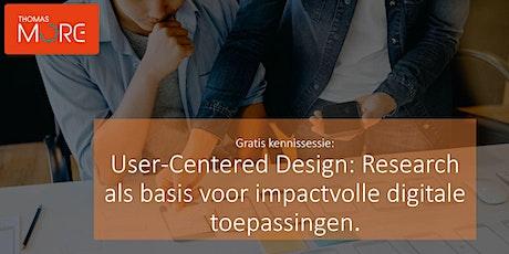 User-Centered Design: Research als basis voor betere digitale toepassingen tickets