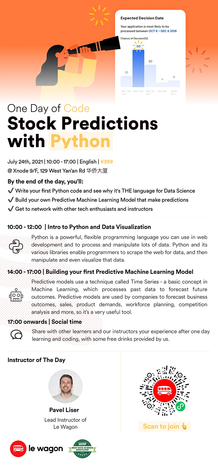 One Day of Code - Stock Predictions with Python image
