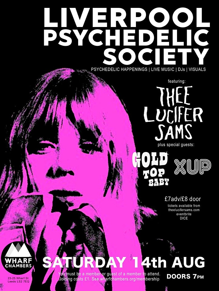 Liverpool Psychedelic Society @ Wharf Chambers. Thee Lucifer Sams + Guests image
