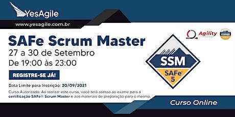 SAFe Scrum Master com certificação SAFe® - OnLine - Português ingressos