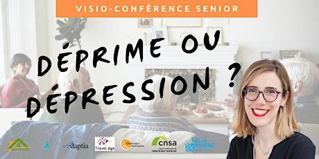 Visio-conférence senior  GRATUITE - Déprime ou dépression  ? billets