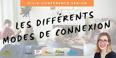Visio-conférence senior  GRATUITE - Les différents modes de connexion billets