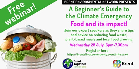 A Beginner's Guide to the Climate Emergency… Food and its impact tickets