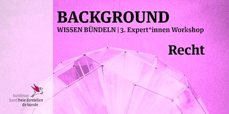 BACKGROUND 3. Expert*innen Workshop | RECHT Tickets