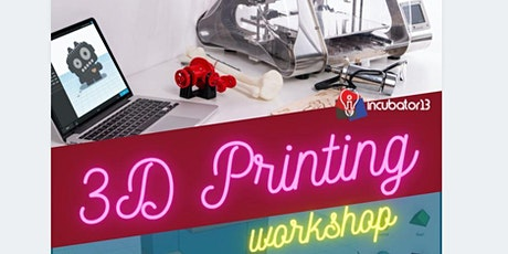 3d-Design & 3d-Print workshop for youth(age 13-18) tickets