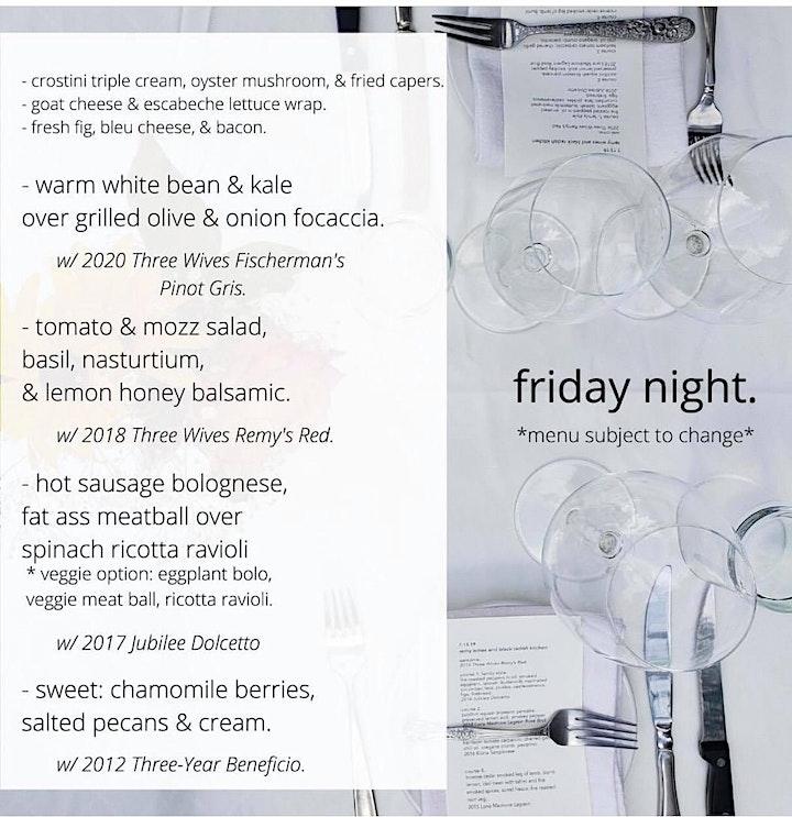 Wine + Dinner Weekend with  Kate Romane, Black Radish Kitchen + Remy Wines image