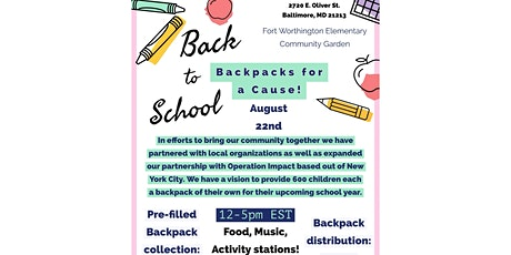 Backpacks for a Cause - Back to School tickets