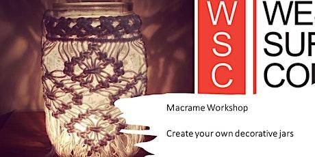 Macrame Workshop - Decorative summer jars tickets