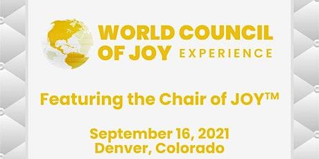 Denver - September 16- The World Council of Joy Presenting! tickets
