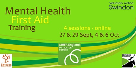 Train ONLINE to be a Mental Health First Aider tickets
