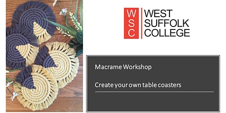 Macrame Workshop - Create your own table coasters tickets