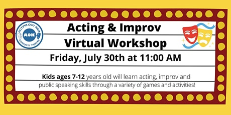 Acting Out Kids Community Theatre Acting & Improv Virtual Kids Workshop tickets