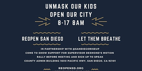ReOpen San Diego & Let Them Breathe Takes On the San Diego County Board of tickets