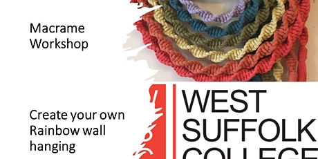 Macrame Workshop - Create your own decorative rainbow wall hanging tickets