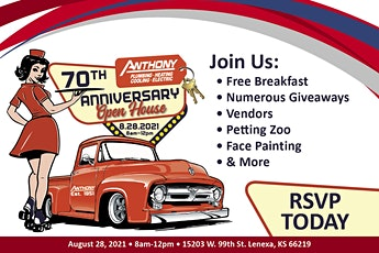 Anthony PHCE 70th Anniversary Open House tickets