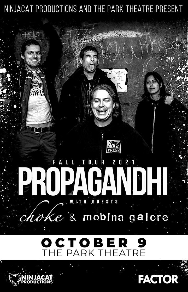Propagandhi w/ Choke and Mobina Galore image