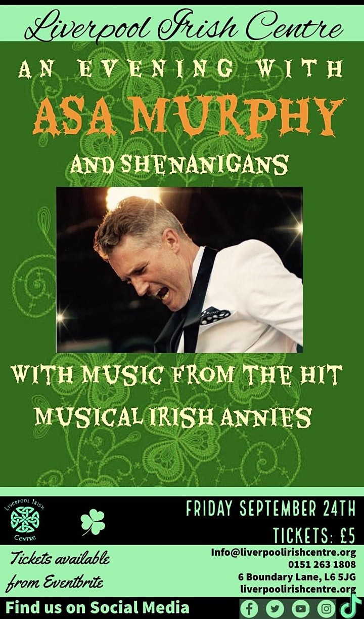 An Evening with Asa Murphy and Shenanigans image