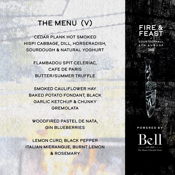 POSTPONED Fire and Feast with Burnt Lemon Chefs at Courteenhall Estate image