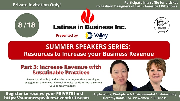 Summer Speakers Series and  Networking Blast! image