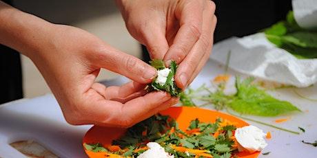 Del jardí a la taula.  Cuinem amb verdures de l'hort i plantes del jardí entradas