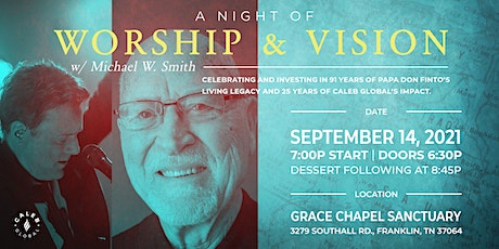 A Night of Worship and Vision tickets