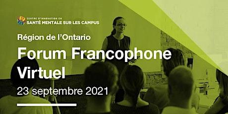 Forum Francophone Virtuel du CISMC (Septembre 2021) billets