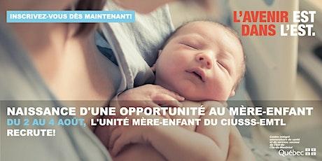 La naissance d'une opportunité au mère-enfant! billets